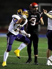 Wylie cornerback Gatlin Martin (15) celebrates after