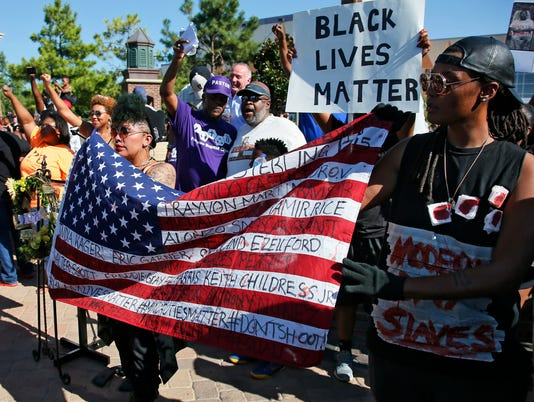 AP POLICE SHOOTINGS PROTEST OKLAHOMA A USA OK