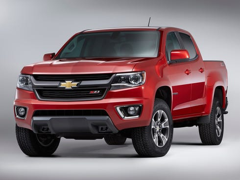 The new 2015 Chevrolet Colorado (Z71 model shown) is planned for showrooms fall of 2014. Chevrolet says the Colorado employs refinement techniques learned in development of the full-size Chevy Silverado.