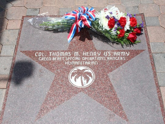 Col. Tom Henry's star on the Palm Springs Walk of Stars,