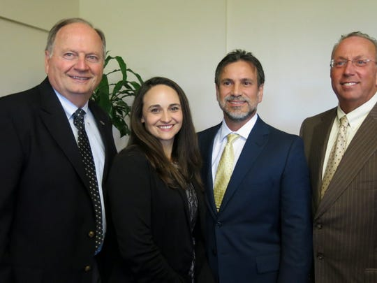 Natchitoches Mayor Lee Posey, Beverly Broadway, Dr. Martin Aviles, Kirk Soileau at National Philanthropy Day Luncheon.