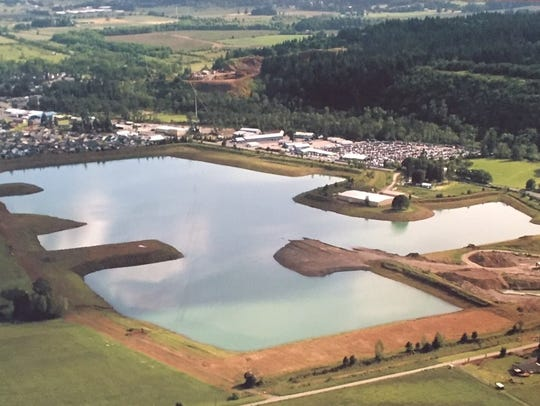 An aerial look at what is now North Turner Lake prior