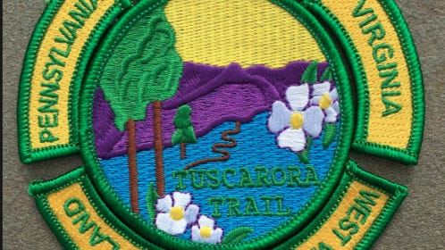 The Potomac Appalachian  Trail Club, in cooperation with REI, offers a free patch to recognize successful hikes of the rugged Tuscarora Trail. MATTHEW UMSTEAD/HAGERSTOWN HERALD-MAIL