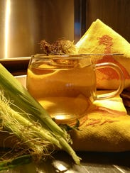 Steep dry corn silks in hot water for a corn silk tea.