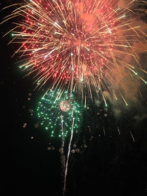 Fireworks at the New Mexico Museum of Space History lit up the sky during Fourth of July 2017.