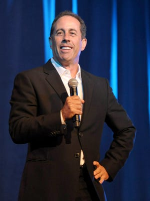 Jerry Seinfeld performing at the David Lynch Foundation in 2012. The comedian turns 60 years old April 29th.