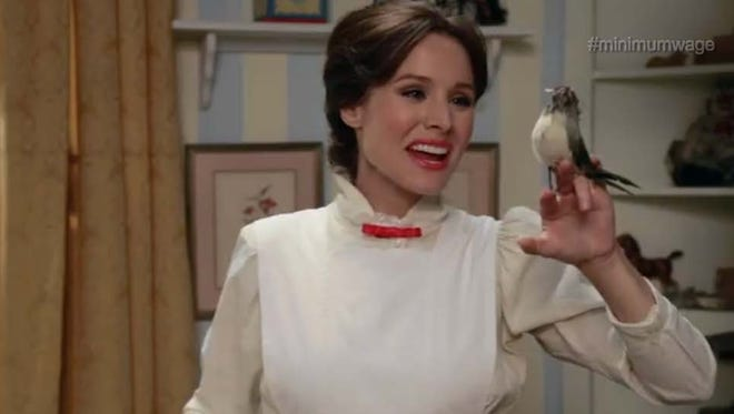 Kristen Bell as Mary Poppins in Funny or Die skit.