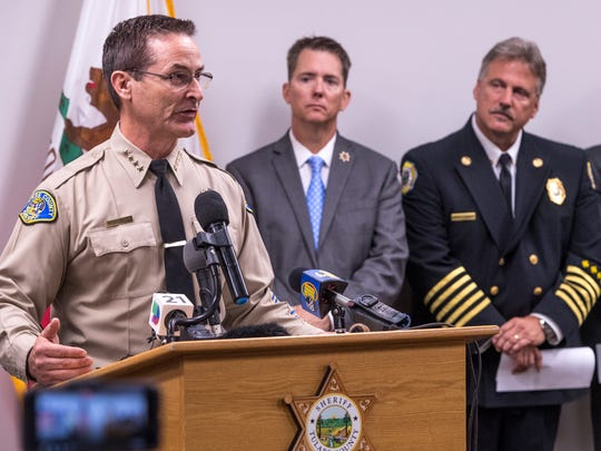 Sheriff Mike Boudreaux and other law enforcement officials