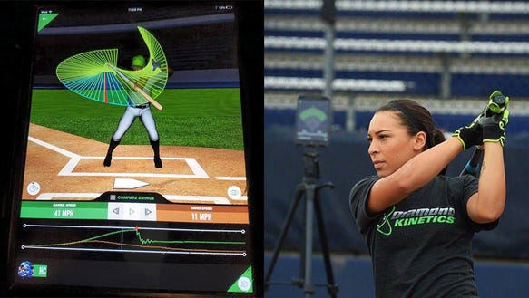 A smart bat for softball and baseball practice
