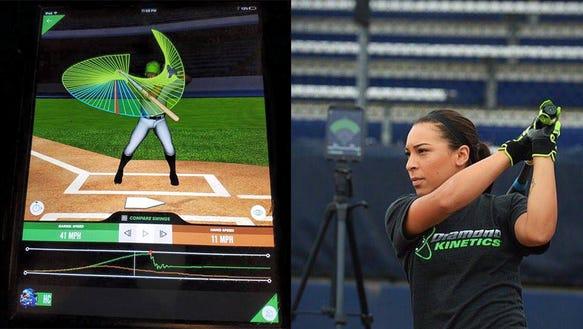 A smart bat for softball and baseball practice