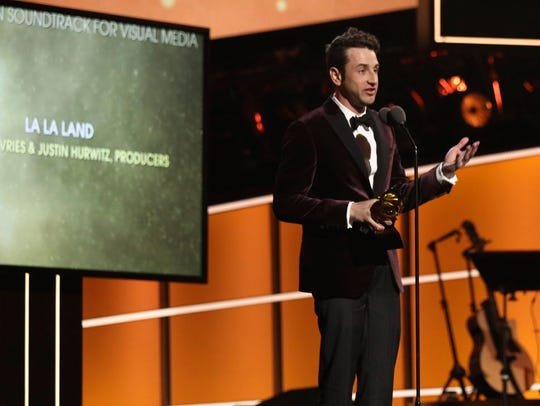 Justin Hurwitz accepts the best compilation soundtrack