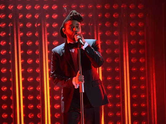 The Weeknd gets the dramatic light treatment at the