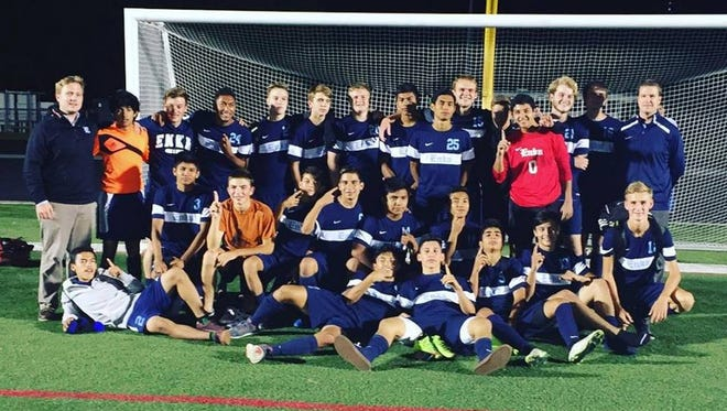 The Enka soccer team pictured after a Sept. 16 game.