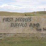 The First Peoples Buffalo Jump State Park near Ulm is being considered to become a National Historic Landmark.