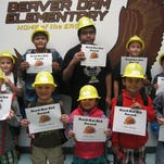 Beaver Dam Elementary School's Hard Hat Heroes for October include, back row fromleft, Jack Warby, Lorenzo Cortez, Juan Garcia, David Enriquez and Trey Sandoval, and, front row from left, Aiden Smith, Christopher Wilkerson, Liliana Gomez, Miguel Jauregui and William Rivera.