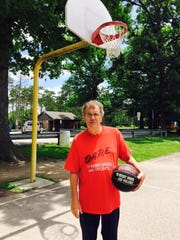 For Archie Mitchell, shooting free throws at Evergreen Park in Lowell, Ind., is part of his anniversary ritual, since his life-saving heart transplant surgery in 2012.