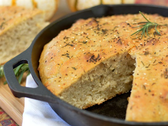 Focaccia made a day ahead requires a final rise the
