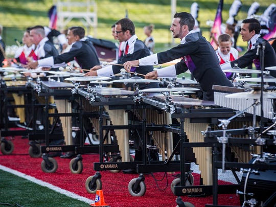 Eight nationally recognized marching bands competed