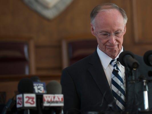 Robert Bentley Speaks after Resigning
