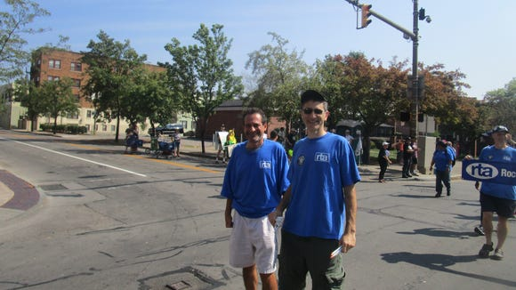David Kramer and Stefan Cohen at the Labor Day Parade
