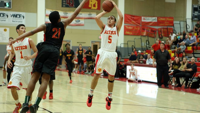 Palm Desert hosted Dominguez in a playoff game in Palm Desert on Friday, February 19, 2016. Palm Desert won in overtime.