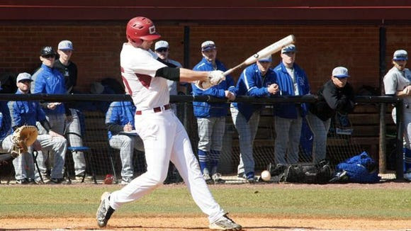Erwin graduate Joe Metts is a junior for the Guilford baseball team.