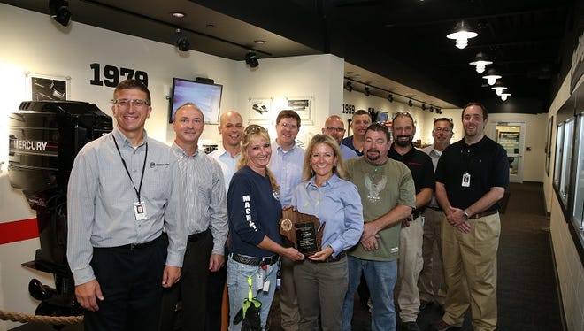 Mercury Marine was one of 15 companies statewide to earn an award for safety.