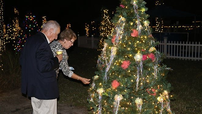 "Florida Oceanographic Society's ""Lights on the Lagoon, A Winter Wonderland"" is back for its second year.  Come to the Coastal Center in Stuart for a unique opportunity to walk the grounds at night and view the property aglow with thousands of shining holiday lights."