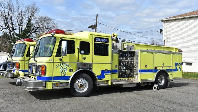 These two Carteret fire trucks are being donated to Guaynabo, Puerto Rico where they will be put into active service.