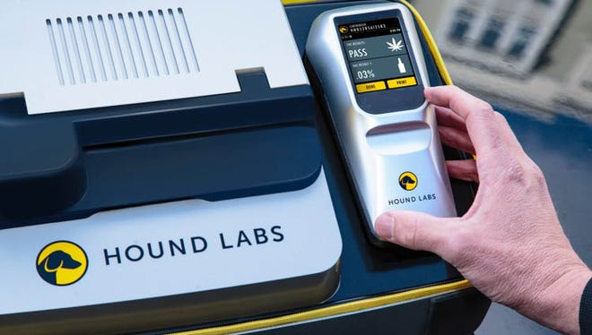 Hound Lab breathalyzers would detect both alcohol and marijuana.