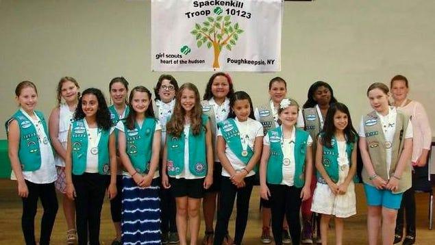 Spackenkill Girl Scout Troop 10123 Earns Bronze Award.