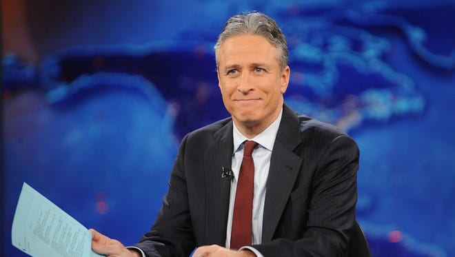 """Jon Stewart during a Nov. 30, 2011, taping of """"The Daily Show With Jon Stewart"""" in New York. Comedy Central announced Tuesday, Feb. 10, 2015, that Stewart will will leave """"The Daily Show"""" later this year."""