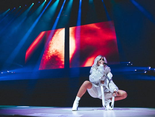 Halsey performs at Talking Stick Resort Arena in Phoenix,
