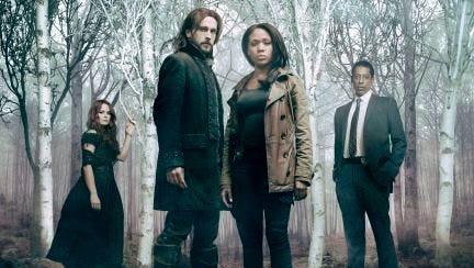 """Sleepy Hollow"" cast from left are  Katia Winters, Tom Mison, Nicole Beharie and Orlando Jones."