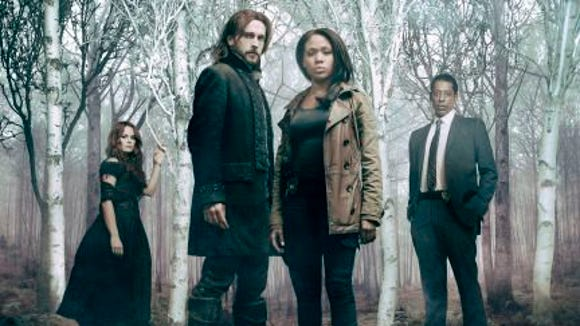 """Sleepy Hollow"" cast from left are  Katia Winters,"