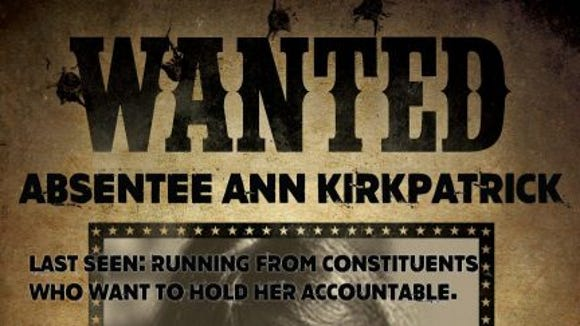 GOP delivers poster to Ann Kirkpatrick, complete with