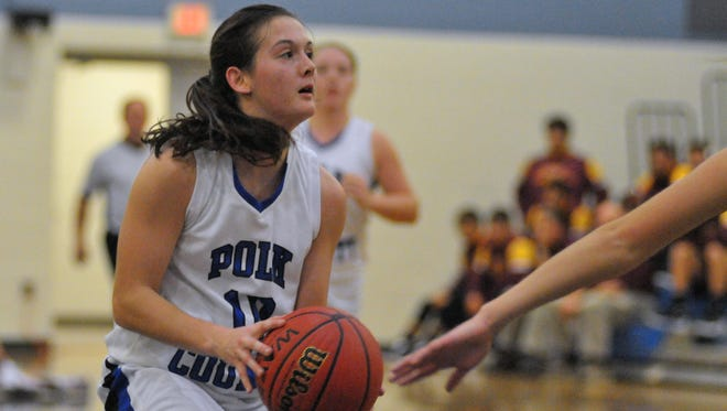 Polk County's Hayley Kropp is the Western Highlands Conference Player of the Year for girls basketball.