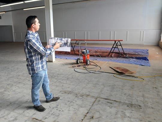 Native Wichitan Matt Bitsche talks about placement of the 10-barrel brewing system equipment that he plans to have in place in about six months. Bitsche plans to open Wichita Falls Brewing later this year downtown at Seventh and Indiana.