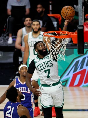 """""""We're clicking on all cylinders with this unit that we have here,"""" the Celtics' Jaylen Brown said on Sunday."""