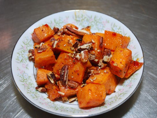 Chili-glazed sweet potatoes from The Wallace House.