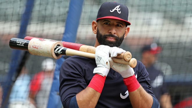 Bautista played 12 games with the Braves.