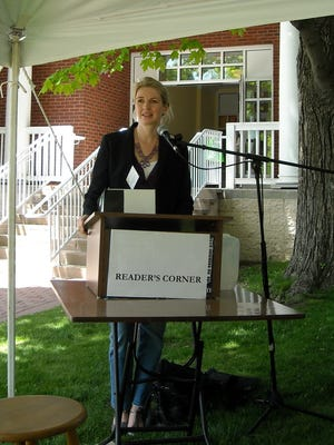 Author Jennifer Donnelly gives a talk during a past Millbrook Literary Festival.