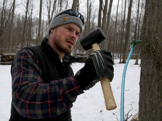 Chris Hurley hammers in a fresh tapped at Kettle Ridge