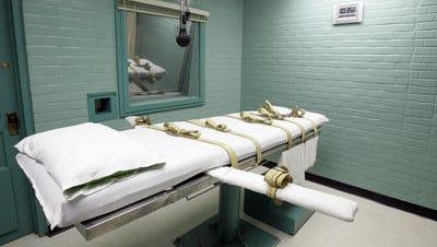 Gurney in the death chamber in Huntsville, Texas.