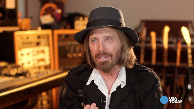 Tom Petty speaks with USA TODAY in his home studio.