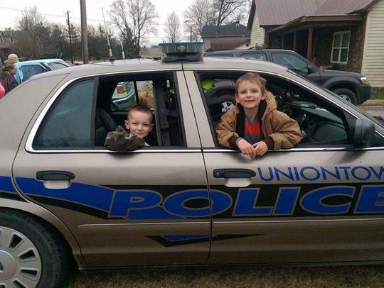 A few kids were lucky enough to get to ride in a Uniontown Police car for the New Years Day parade a couple years ago.