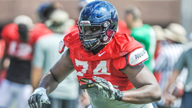 Offensive lineman Greg Little is one of quite a few Ole Miss freshmen who may play against No. 4 Florida State.