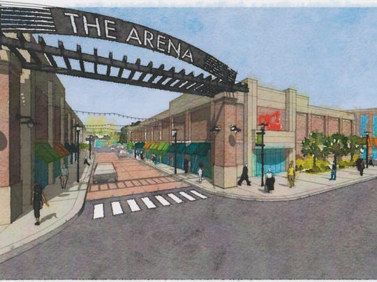 Rendering of the Arena