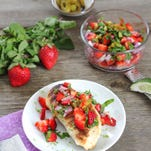 Learn how to make Grilled Chicken with Strawberry and Mint Salsa