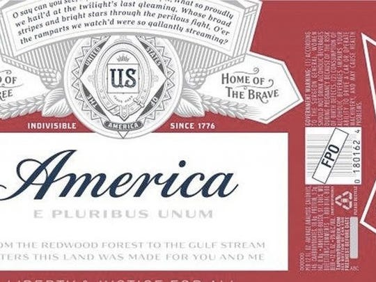 "Budweiser is changing its summer label to ""America."""